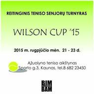 """Reitinginis teniso senjorų turnyras """"WILSON CUP '15"""""""